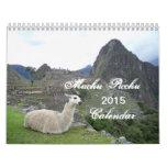 Calendario de Machu Picchu Perú 2015
