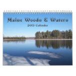 Calendario de maderas y de las aguas 2013 de Maine