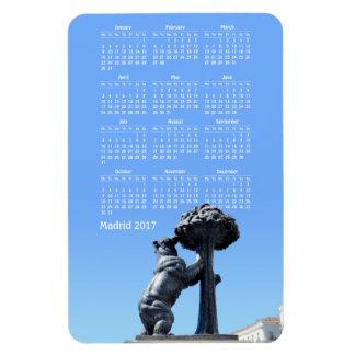 Calendario de Madrid, España 2017 Imán Rectangular
