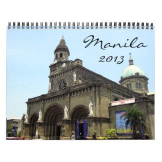 calendario de Manila 2013