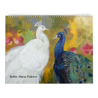 Calendario de Maria Pedrero del petirrojo