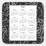 Calendario de mármol negro del diseño 2012 de la m pegatina cuadradas personalizadas