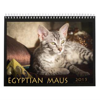 Calendario de Mau de 2015 egipcios: Gatos del
