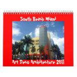 calendario de Miami 2011 del art déco