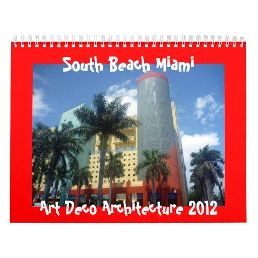 calendario de Miami 2012 del art déco