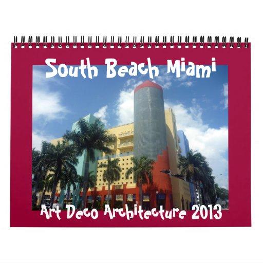 calendario de Miami 2013 del art déco