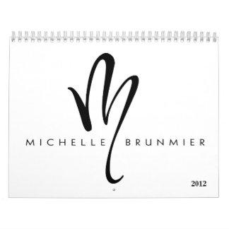 Calendario de Michelle Brunmier 2012 (estándar)