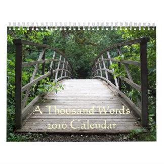 Calendario de mil palabras 2010