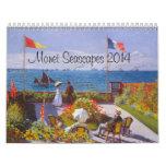 Calendario de Monet para el calendario 2014 de los
