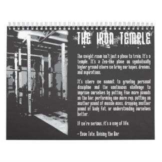 Calendario de motivación del gimnasio del