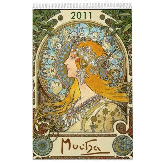 Calendario de Mucha 2011