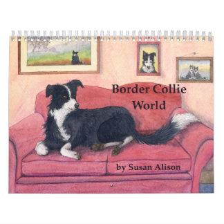 Calendario de mundo del border collie