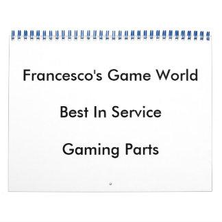 Calendario de mundo del juego de Francisco