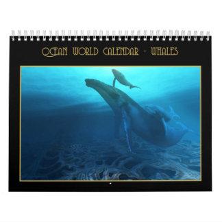 Calendario de mundo del océano - ballenas