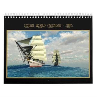 Calendario de mundo del océano - naves