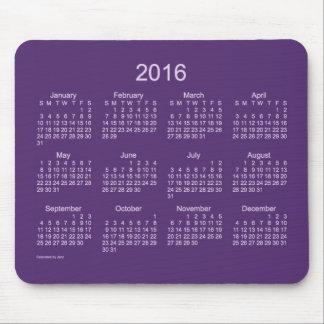Calendario de neón de 2016 púrpuras de Janz Tapete De Raton