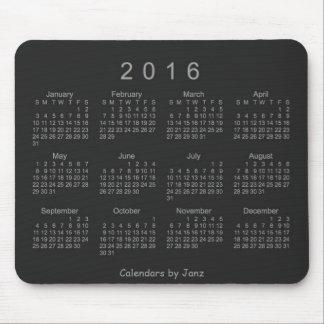 Calendario de neón de la plata 2016 de Janz Alfombrillas De Ratón