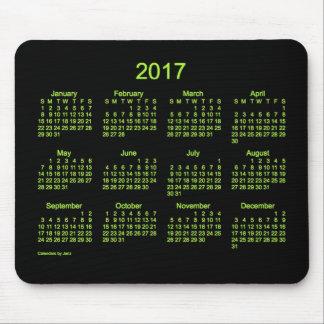 Calendario de neón del verde 2017 por el cojín de mousepads
