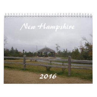 Calendario de New Hampshire 2016