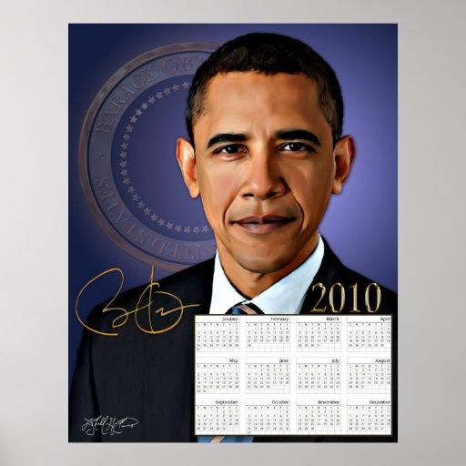 Calendario de Obama 2010 Posters