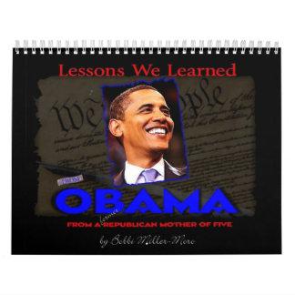Calendario de Obama de la edición especial de Obam