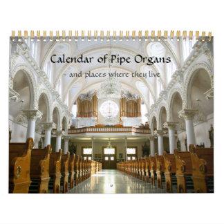 Calendario de órganos y donde viven