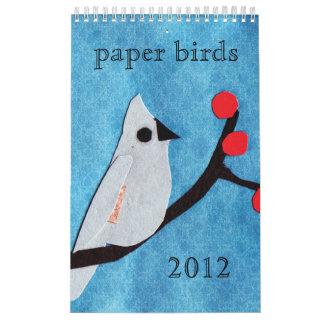 Calendario de papel del pájaro