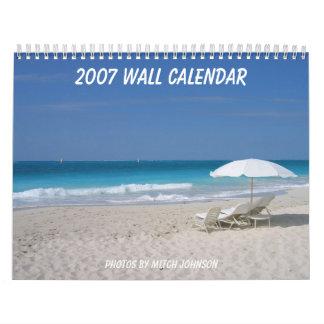 Calendario de pared 2007, fotos de Mitch J…