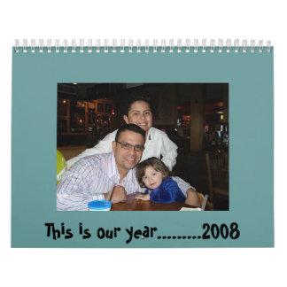 Calendario de pared 2008