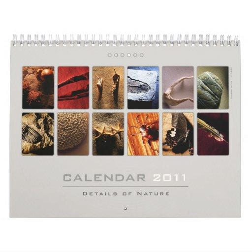 Calendario de pared 2011 - detalles de la