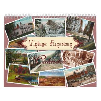 Calendario de pared americano del vintage