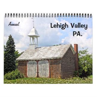 Calendario de pared anual del PA del valle de