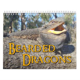 Calendario de pared barbudo de los dragones