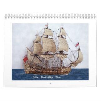 Calendario de pared británico del buque de guerra