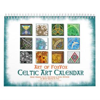 Calendario de pared céltico del arte