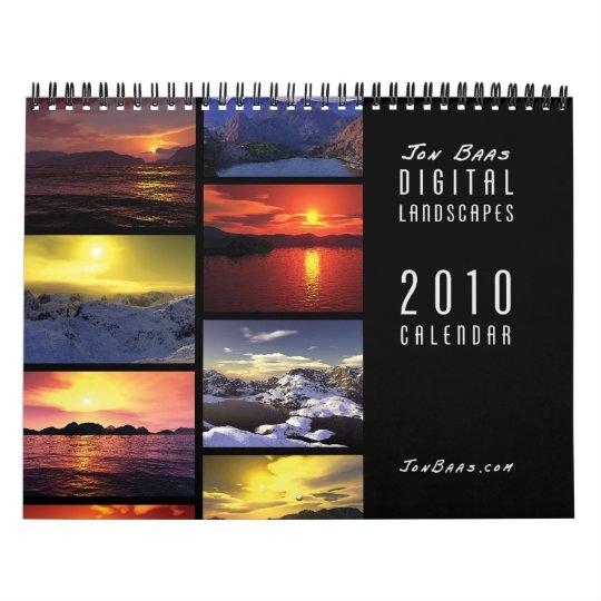 Calendario de pared de 2010 paisajes de Digitaces