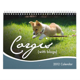 Calendario de pared de 2012 Corgis con los blogs