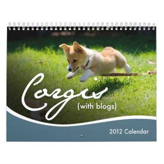 Calendario de pared de 2012 Corgis (con los blogs)