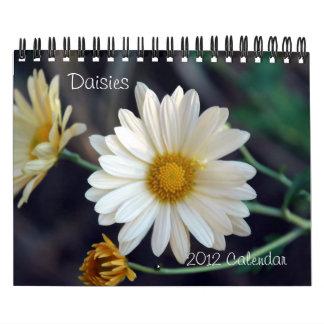 Calendario de pared de 2012 margaritas