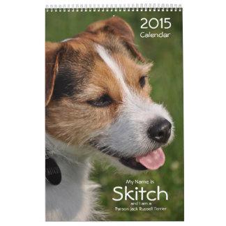 Calendario de pared de 2015 perros por Janz