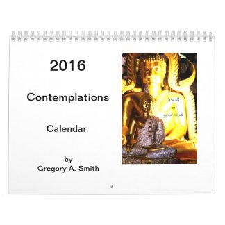 Calendario de pared de 2016 reflexiones