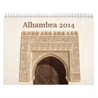 Calendario de pared de Alhambra 2014