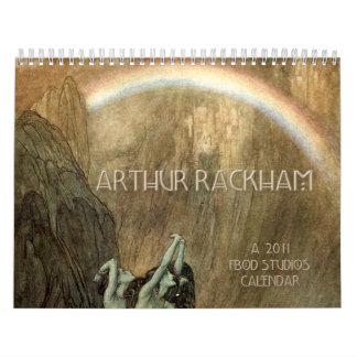 Calendario de pared de Arturo Rackham 2011