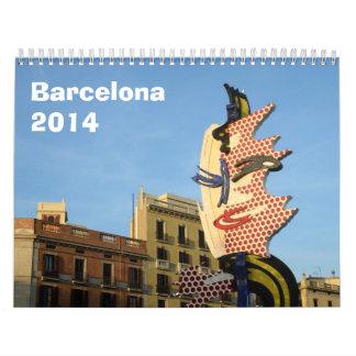 Calendario de pared de Barcelona 2014