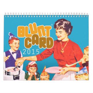 Calendario de pared de Bluntcard 2015