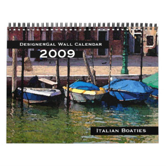 Calendario de pared de Boaties del italiano