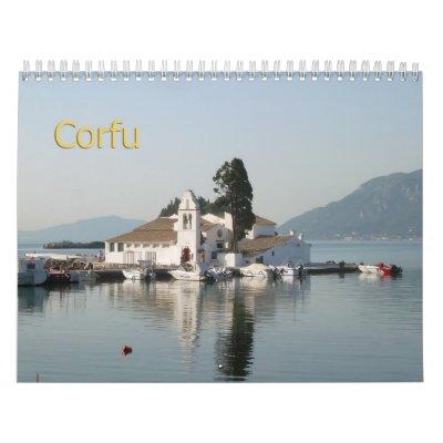 Calendario de pared de CORFÚ, GRECIA 2013