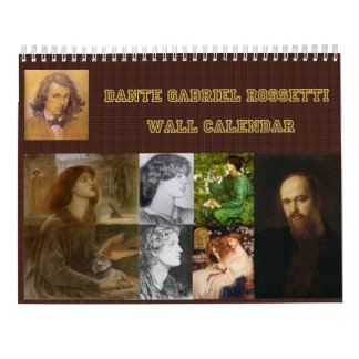 Calendario de pared de Dante Gabriel Rossetti
