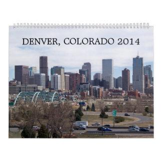 Calendario de pared de Denver, Colorado 2014