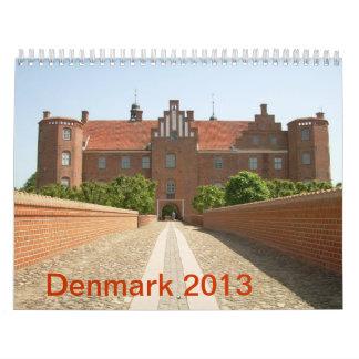 Calendario de pared de Dinamarca 2013